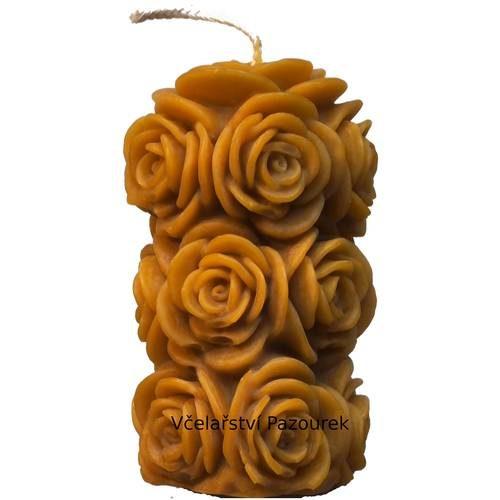 Svíčka sloup z růží